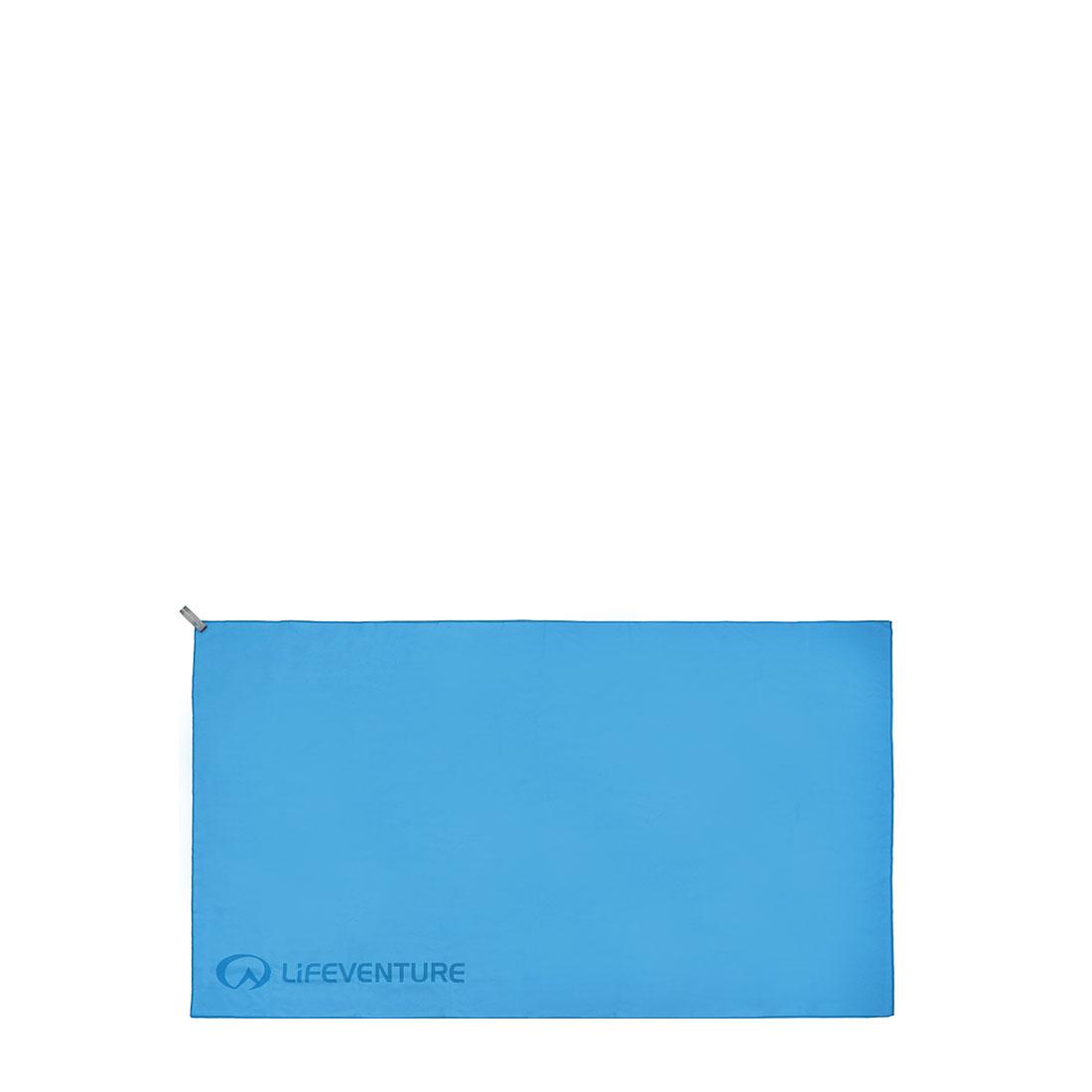 Softfibre Triangle Print Travel Towel (blue)