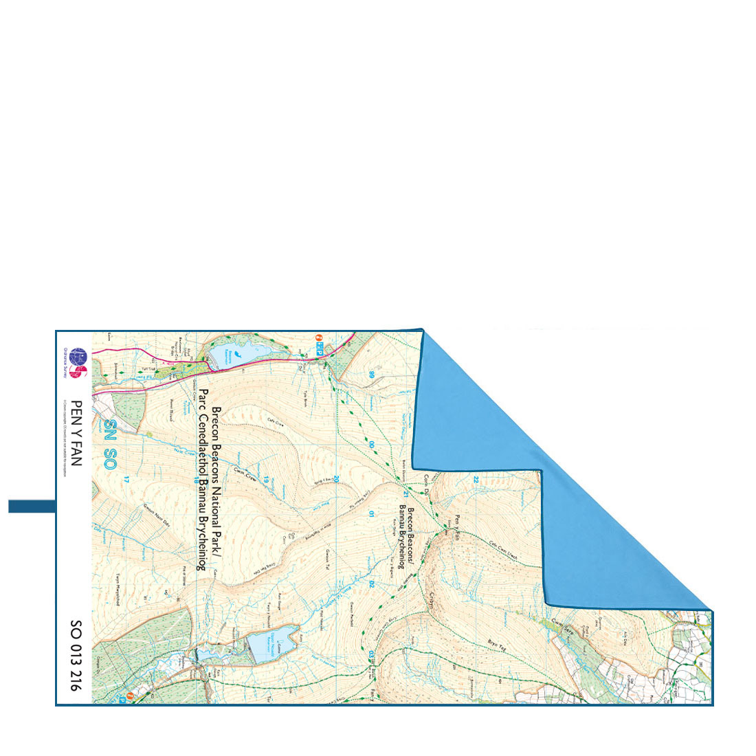 Softfibre Ordnance Survey Travel Towel (pen Y Fan)