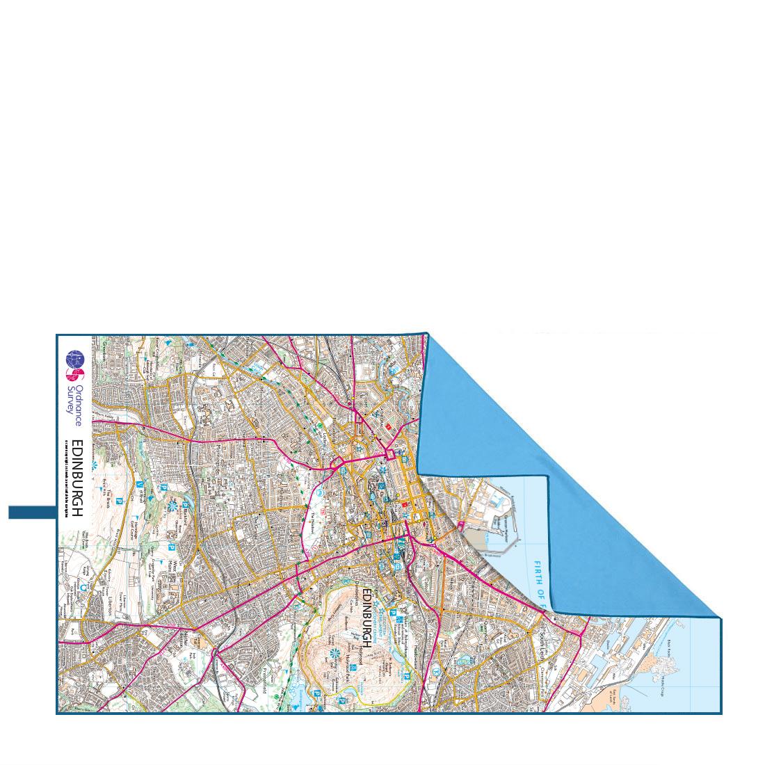 Softfibre Ordnance Survey Travel Towel (edinburgh)