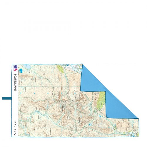 SoftFibre Ordnance Survey Travel Towel (Scafell Pike)