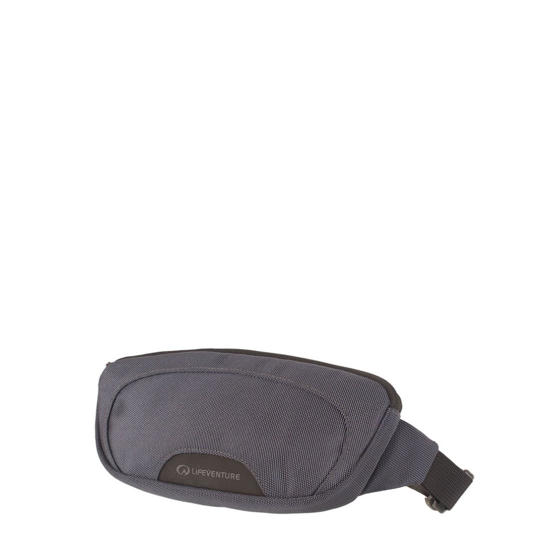 Grey RFiD hip pack 1 with internal zipped pocket