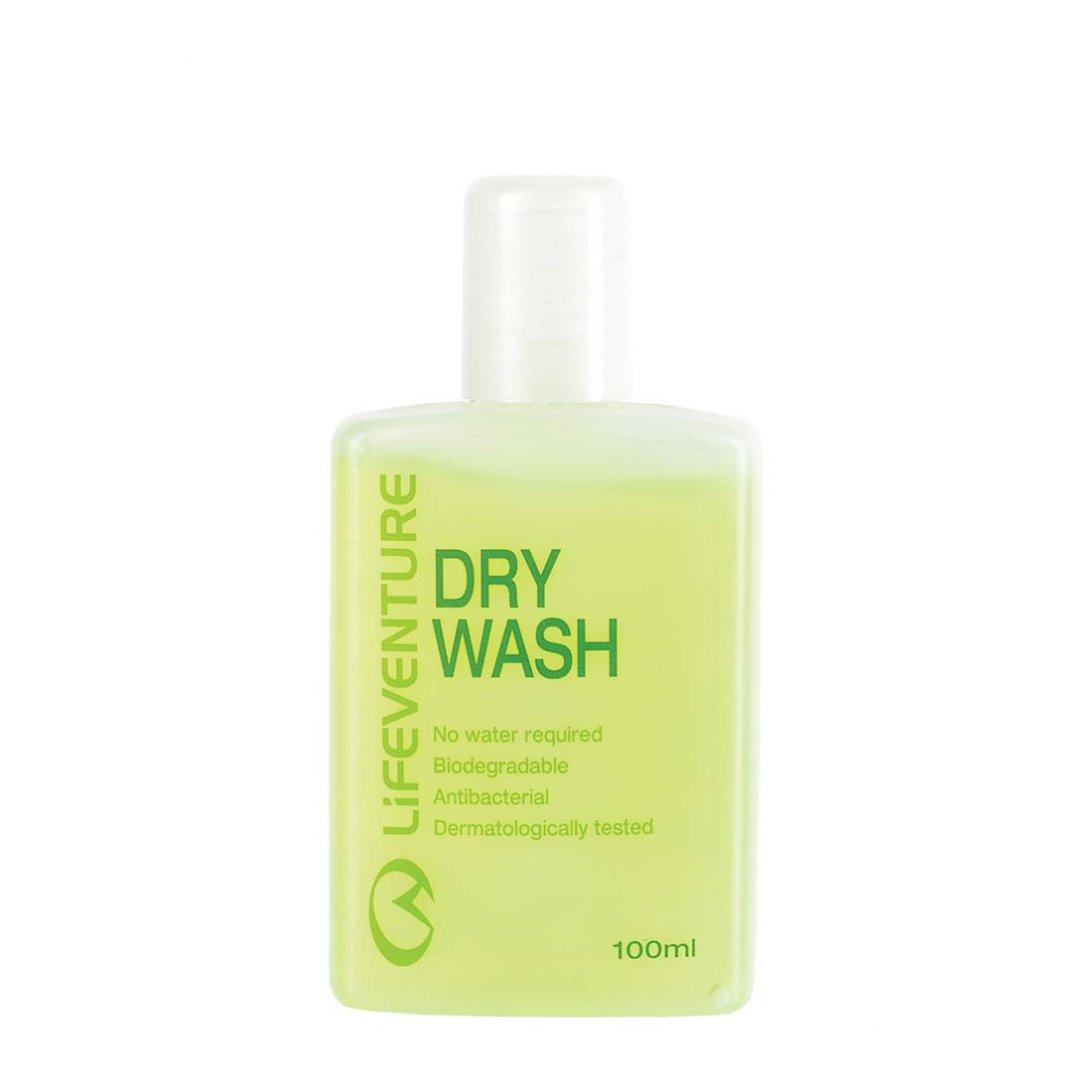 Green dry body wash bottle