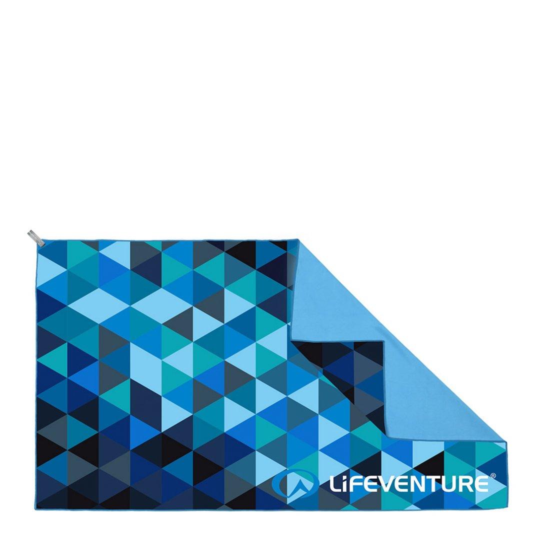 Softfibre Travel Towel Triangle Print Giant - Blue