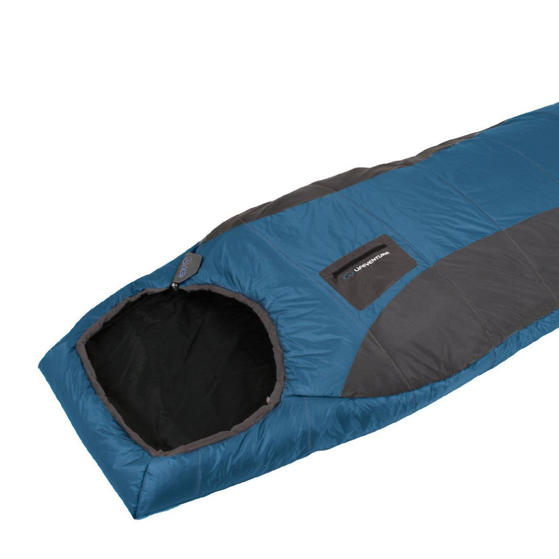 Blue lightweight sleeping bag