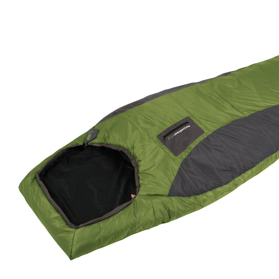 Green lightweight sleeping bag