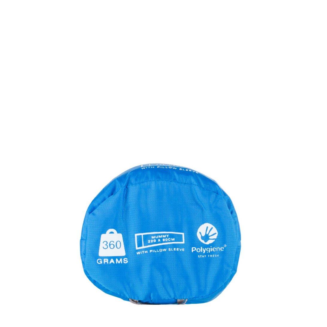 Cotton sleeping bag liner carry case - mummy