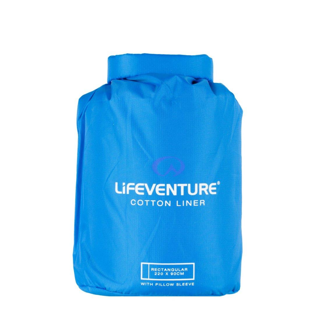 Cotton sleeping bag liner carry case - rectangular