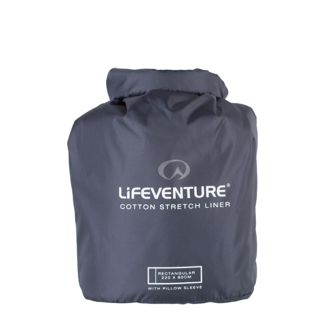 Cotton stretch sleeping bag liner carry case