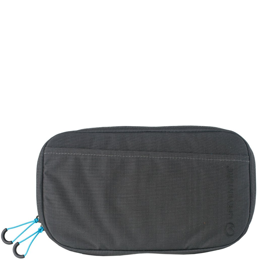 Grey RFiD travel belt pouch