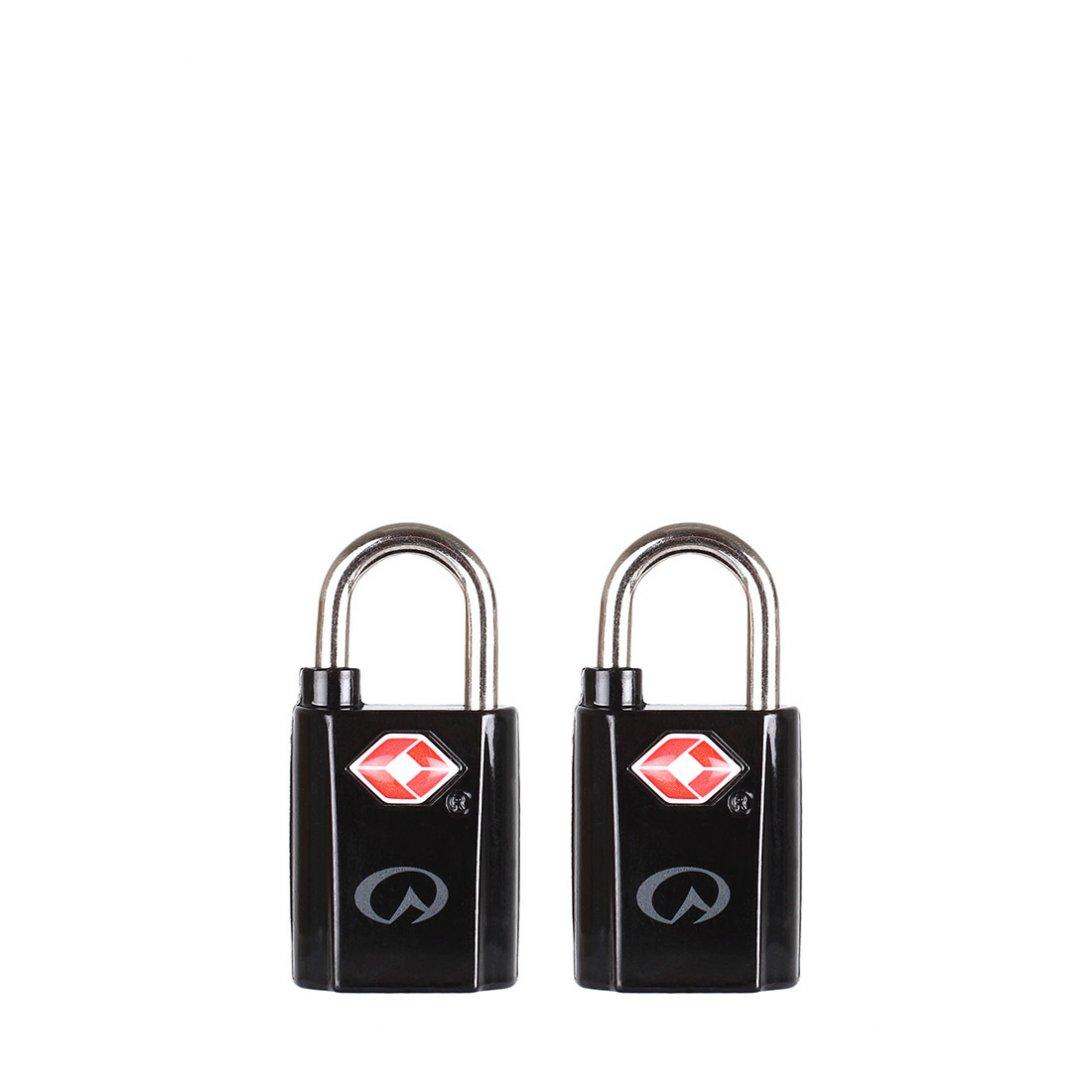 Black TSA padlocks