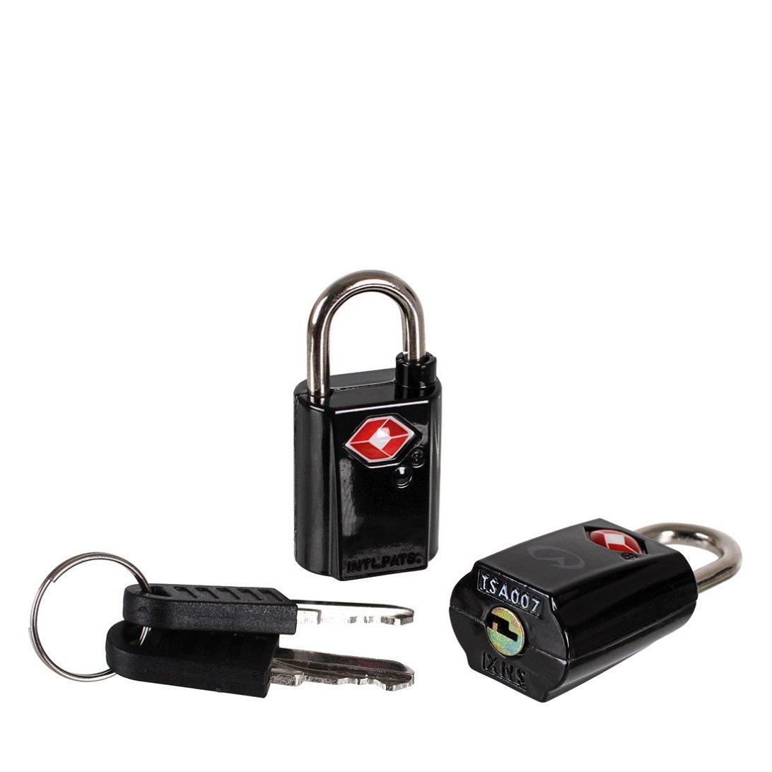 Black TSA padlock and keys
