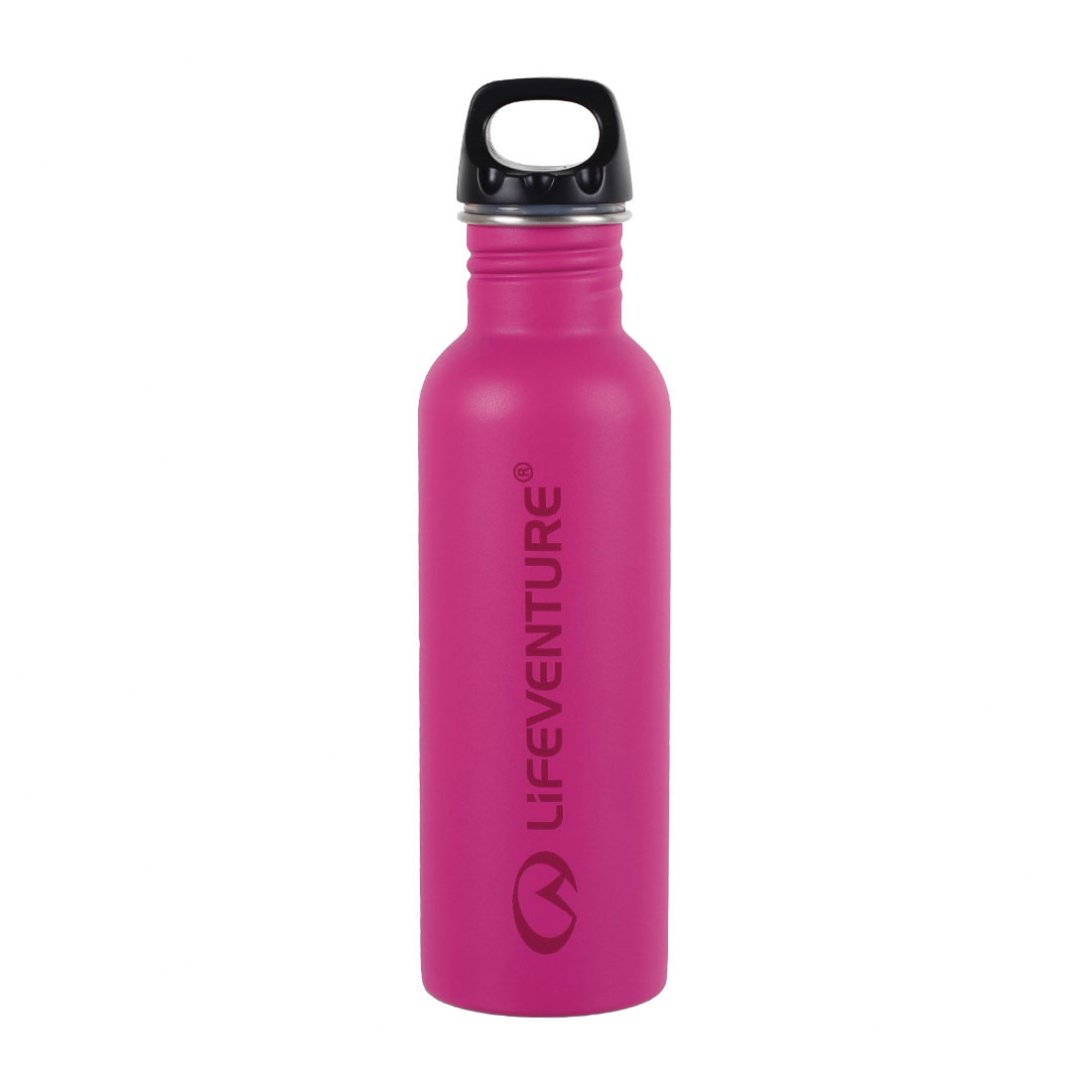 Pink stainless steel water bottle