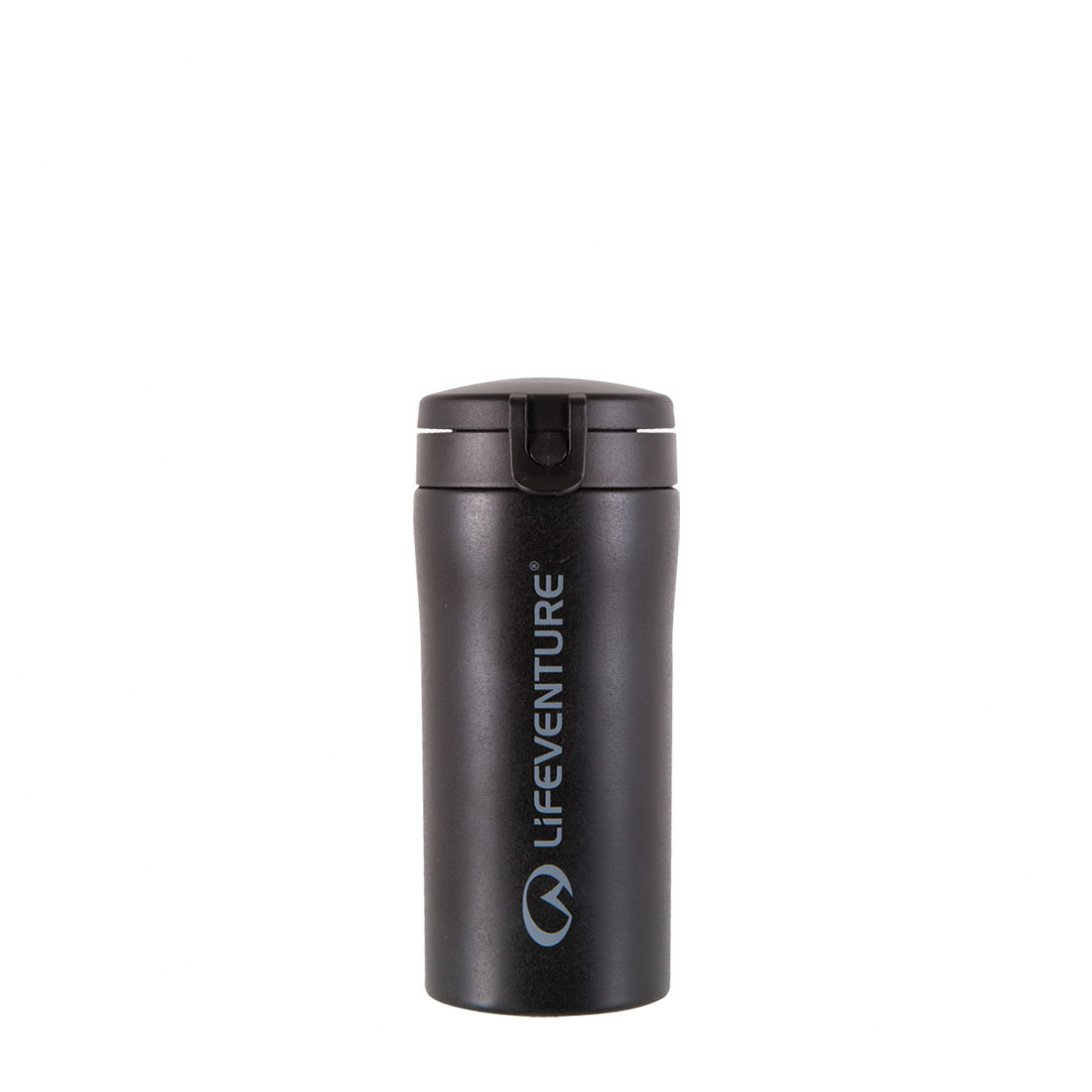 Flip-Top Thermal Mug - Black
