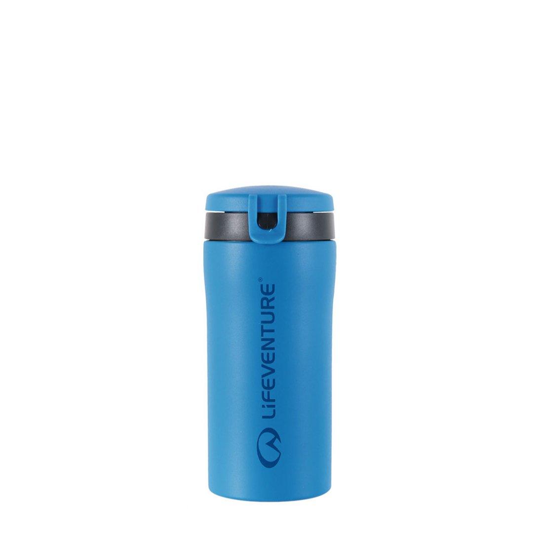 Flip-Top Thermal Mug - Blue