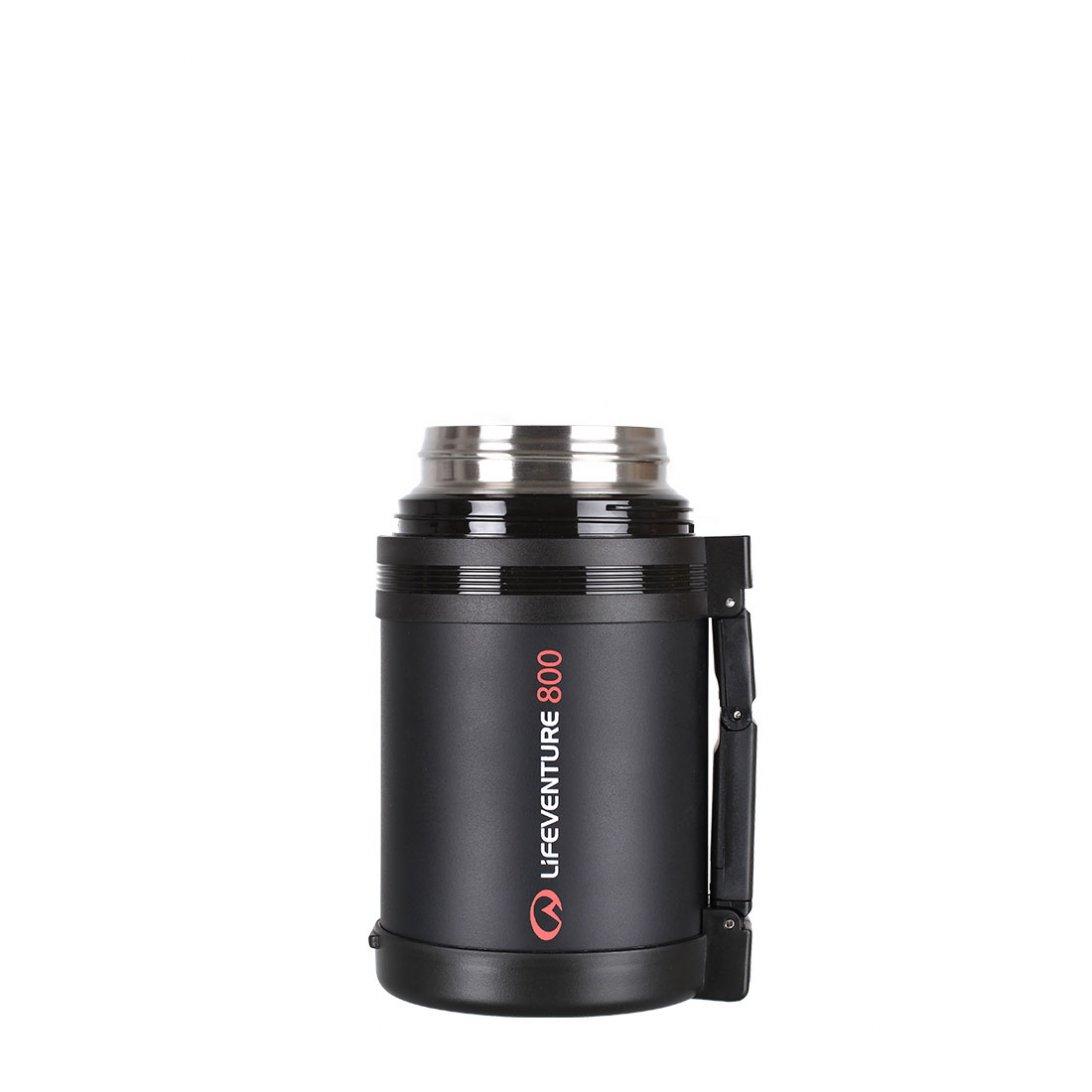 TiV Widemouth Vacuum Flask 800ml lid open