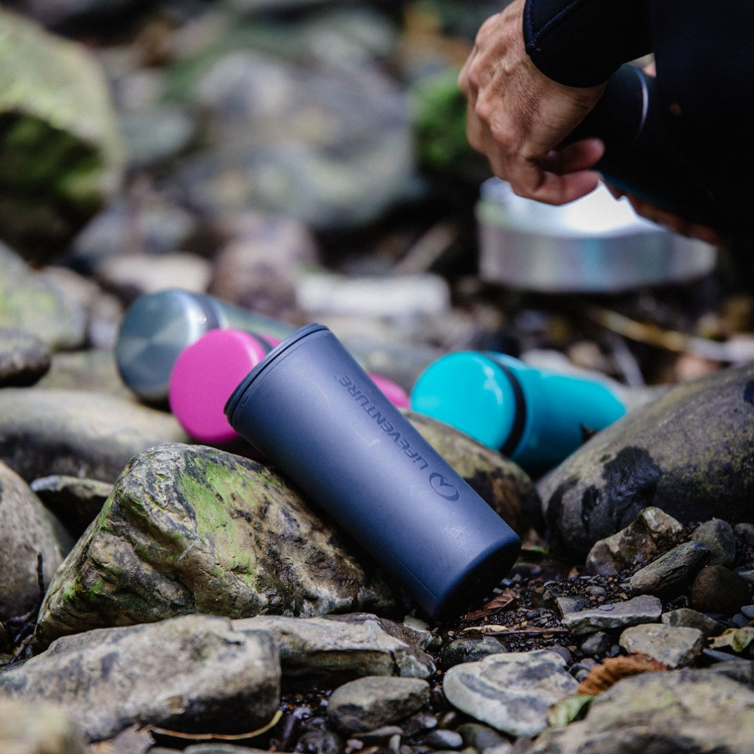 Ellipse Travel Mug lifestyle - purple