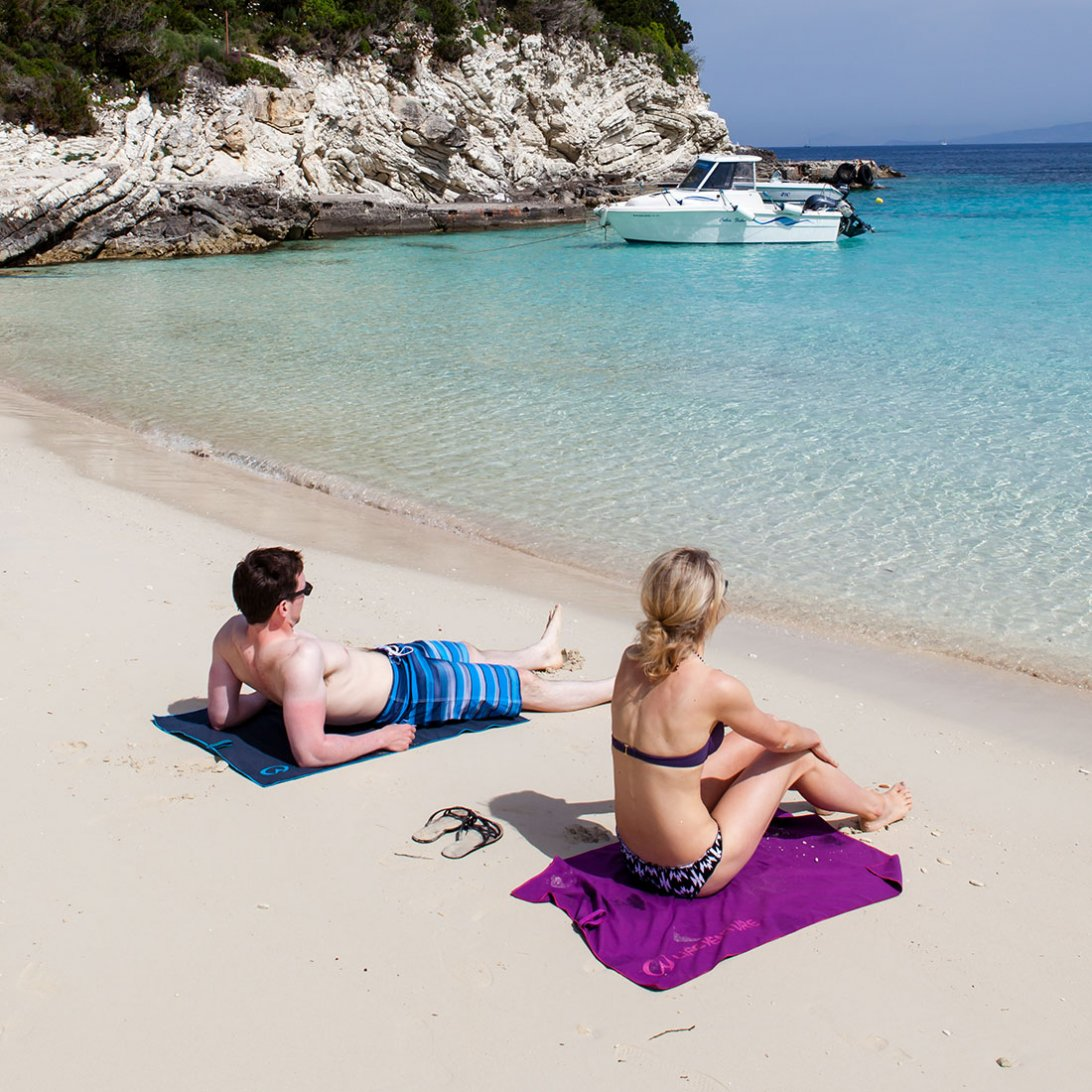 Softfibre Lite Travel Towel lifestyle - Purple