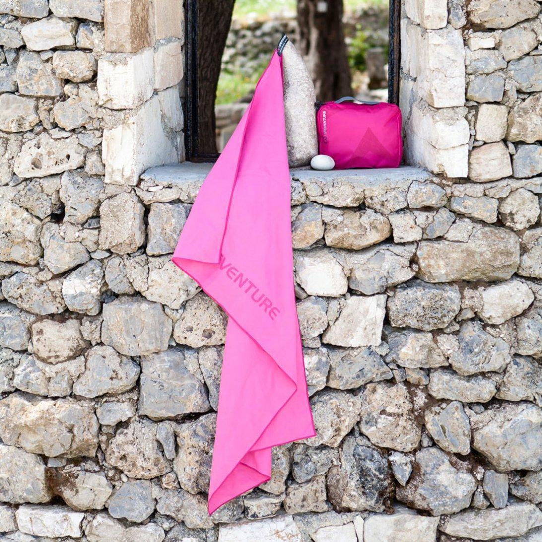 Softfibre Travel Towel lifestyle - Pink