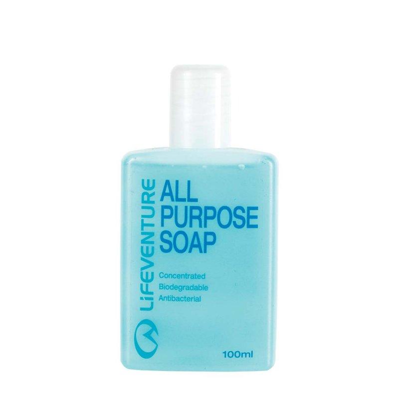 Blue all purpose travel soap bottles