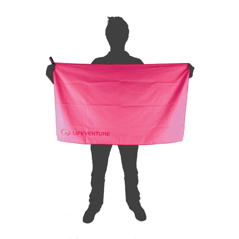 Hydrofibre Travel Towel Large size reference - Pink