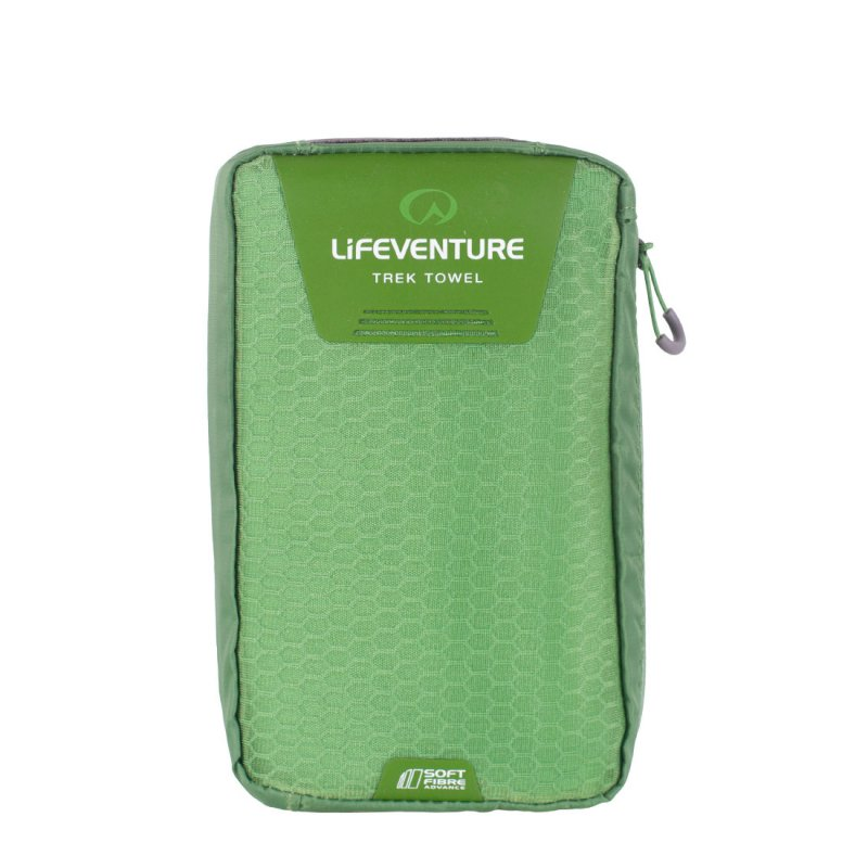 Softfibre Travel Towel Giant carry case - Green