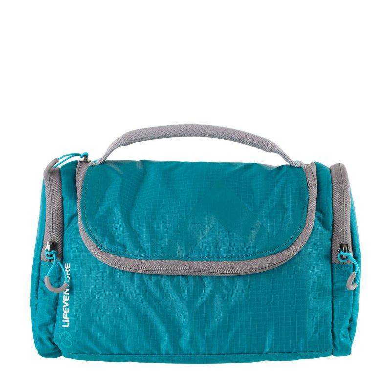 Blue hanging wash bag