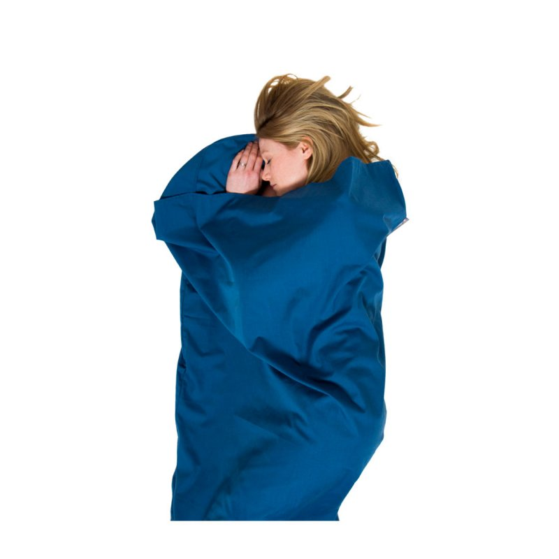 Navy poly cotton sleeping bag liner