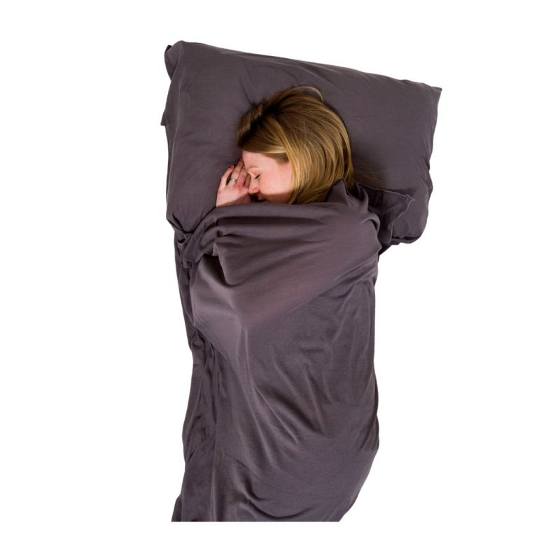 Grey cotton stretch sleeping bag liner