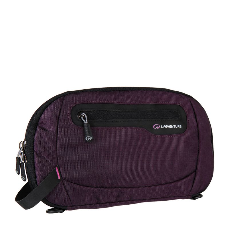 Purple travel document wallet with RFiD protection