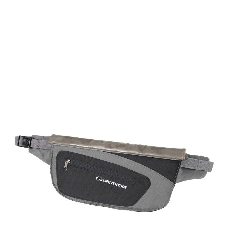 Black and grey water resistant money belt