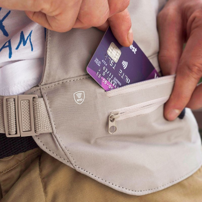 RFiD Multi-Pocket Waist Wallet