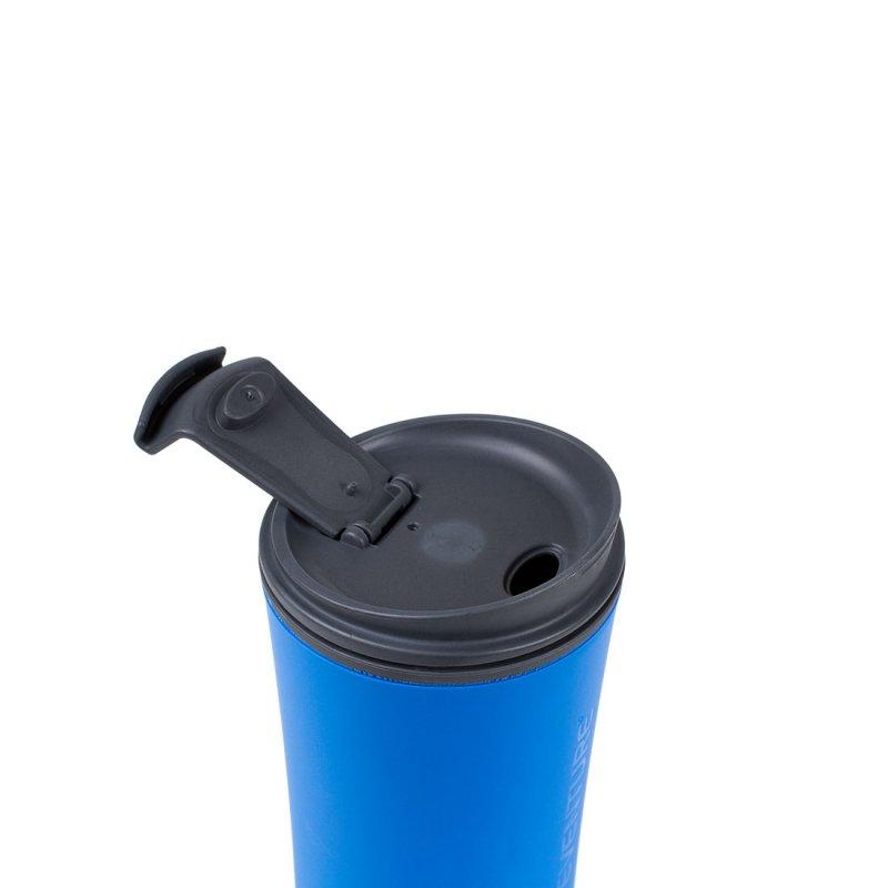 Ellipse Travel Mug open - Blue