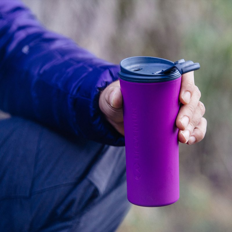 Ellipse Travel Mug lifestyle - grey