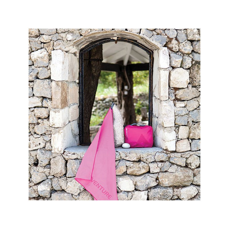 Pink large travel wash bag and travel towel
