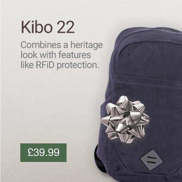 Kibo 22 RFiD Travel Backpack Christmas Gift Idea Banner