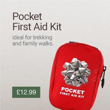 Pocket First Aid Kit Christmas Gift Idea Banner